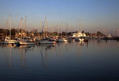 Port de Lymington au coucher du soleil Photographie stock libre de droits