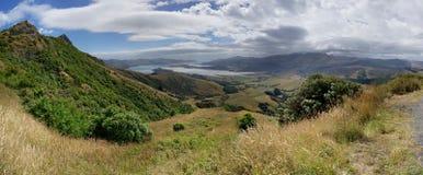 Port de Lyttelton/Whakaraupho, Nouvelle-Zélande Photo libre de droits