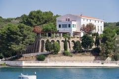 Port de Mahon dans Menorca Images stock