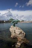 Port de Mandraki Photographie stock libre de droits