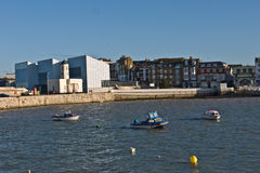 Port de Margate et Turner Contemporary Gallery Photographie stock