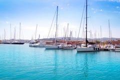 Port de marina dans Palma de Majorca Photo stock