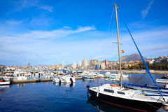Port de marina de Benidorm dans Alicante de l'Espagne Photos libres de droits