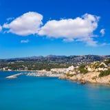 Port de marina de Moraira Teulada dans Alicante Images libres de droits