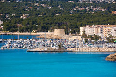 Port de marina de Moraira Teulada dans Alicante Photo stock