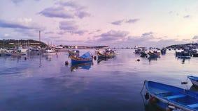 Port de Marsaxlokk Images libres de droits