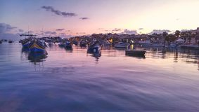 Port de Marsaxlokk Photos libres de droits