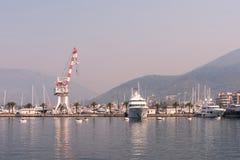 Port de mer dans Monténégro photographie stock libre de droits