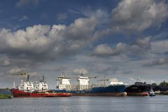 Port de Merwede dans Dordrecht images libres de droits