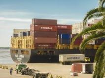 Port de message publicitaire de Montevideo Photographie stock libre de droits