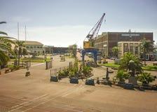 Port de message publicitaire de Montevideo Image stock