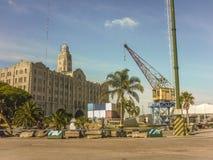Port de message publicitaire de Montevideo Images stock