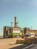 Port de message publicitaire de Montevideo Images libres de droits