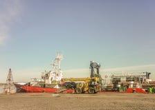 Port de message publicitaire de Montevideo Photo stock
