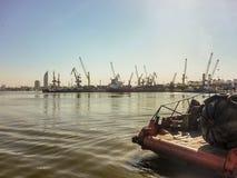 Port de message publicitaire de Montevideo Photo libre de droits