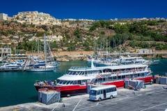 Port de Mgarr à Malte Photo libre de droits