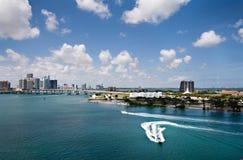 Port de Miami Image libre de droits