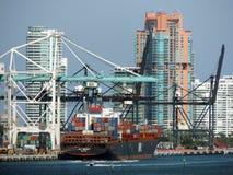 Port de Miami Images libres de droits