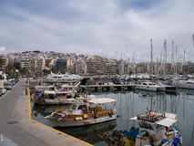 Port de Mikrolimano près de Le Pirée à Athènes Grèce Photos libres de droits