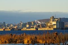 Port de Montréal en hiver Images libres de droits