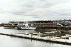 Port de Montréal, Québec, Canada photographie stock libre de droits