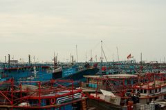 Port de Muara Angke photos stock