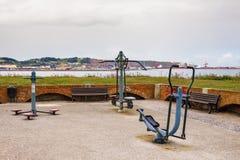 Port de négligence de parc d'exercice de Gijon Espagne photographie stock