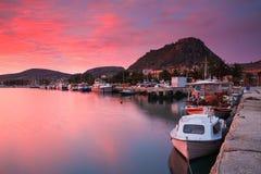 Port de Nafplio, Grèce Photos stock