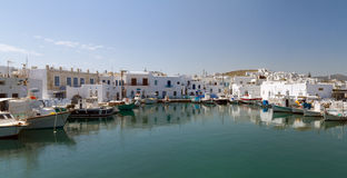 Port de Naoussa, île de Paros, Grèce Image stock