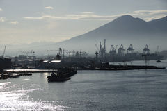 Port de Napoli au lever de soleil Photo libre de droits