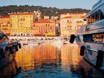 Port de Nice,法国 免版税库存图片