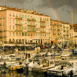 Port de Nice après la tempête Photo libre de droits