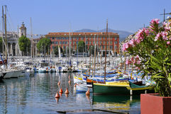 Port de Nice en France Images libres de droits