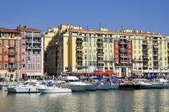 Port de Nice en Francia imágenes de archivo libres de regalías