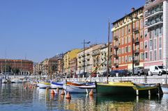 Port de Nice en Francia Fotos de archivo libres de regalías