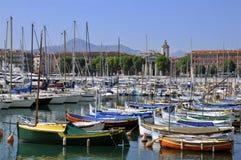 Port de Nice en Francia Fotografía de archivo libre de regalías