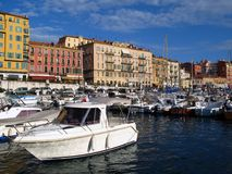 Port de Nice, France Photographie stock libre de droits