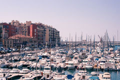 Port de Nice in French Riviera stock photo