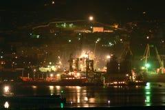 Port de nuit Photographie stock libre de droits