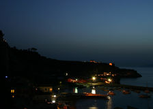 Port de nuit Photo libre de droits