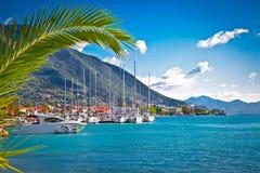 Port de Nydri à Leucade, Grèce Image libre de droits