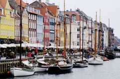 Port de Nyhavn, Copenhague Image libre de droits