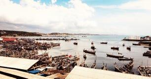 Port de pêche image libre de droits