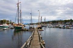 Port de pêche images stock
