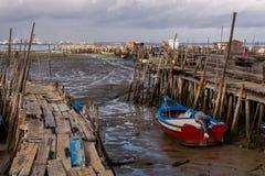 Port de pêche antique de Carrasqueira Photographie stock