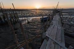 Port de pêche antique de Carrasqueira Image libre de droits