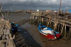 Port de pêche antique de Carrasqueira Photographie stock libre de droits