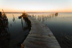 Port de pêche antique de Carrasqueira photos stock