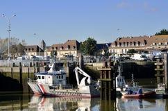 Port de pêche d'Ouistreham en France photographie stock