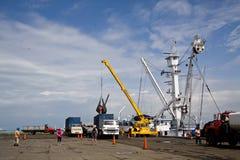 Port de pêche dans le Manta, Equateur Photographie stock libre de droits
